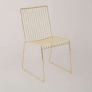 Gold Wire Soho Chair