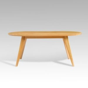 Wooden Oval Coffee Table