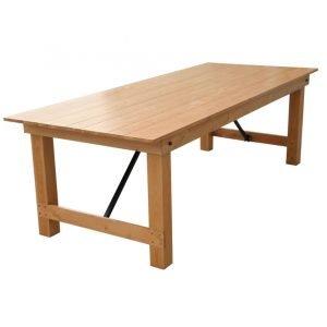 Wooden Frame Folding Table
