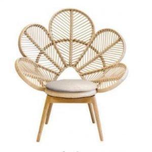 Flower Rattan Outdoor Chair