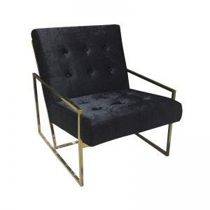 Metal Frame Luxury Armchair