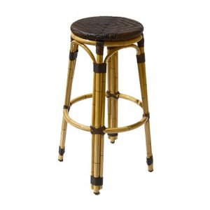 Guillaume Outdoor Aluminium Bistro Backless Stool