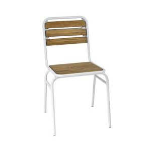 Wood Slat Outdoor Chair