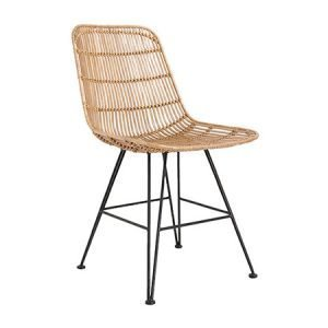 Hairpin Wicker Dining Chair