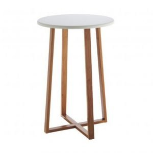 White Lacquer Tall Side Table