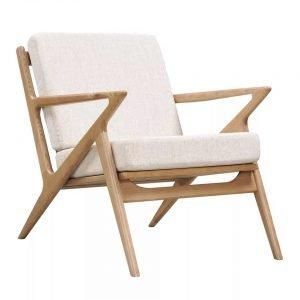 Natural Wood Frame Armchair