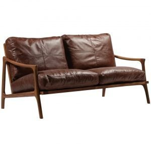 Double Seater Wood Frame Armchair