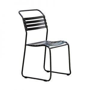 Slat Steel Outdoor Chair