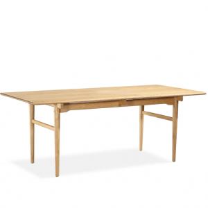 Under Braced Wood Table