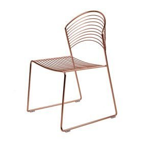 Rose Gold Wire Bonnet Chair