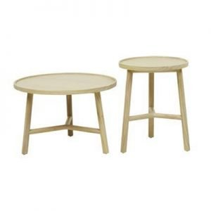 Circular Three Point Wooden Table