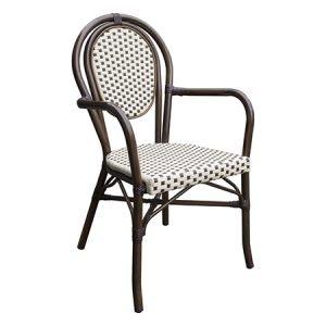 Romantic Outdoor Aluminium Bistro Chair