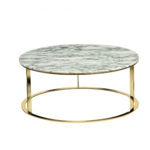 Marble Wheel Coffee Table