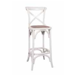 Cross Back Bar Chair
