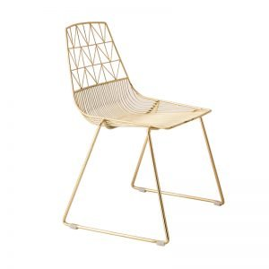 Gold arrow metal chair