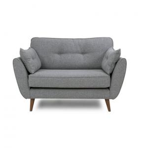 Grey Linen Armchair