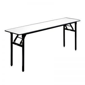 White Top Metal Base Table