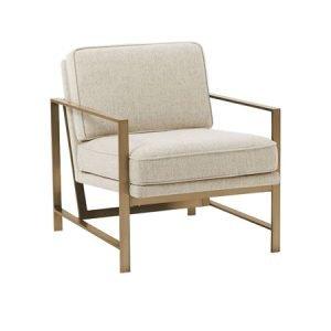 Metal Frame Living Room Chair