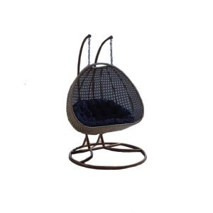 rattan double hanging chair