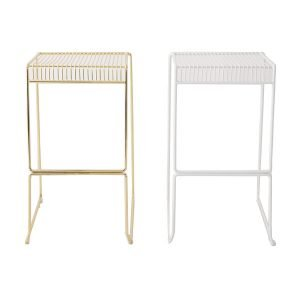 wire backless stool